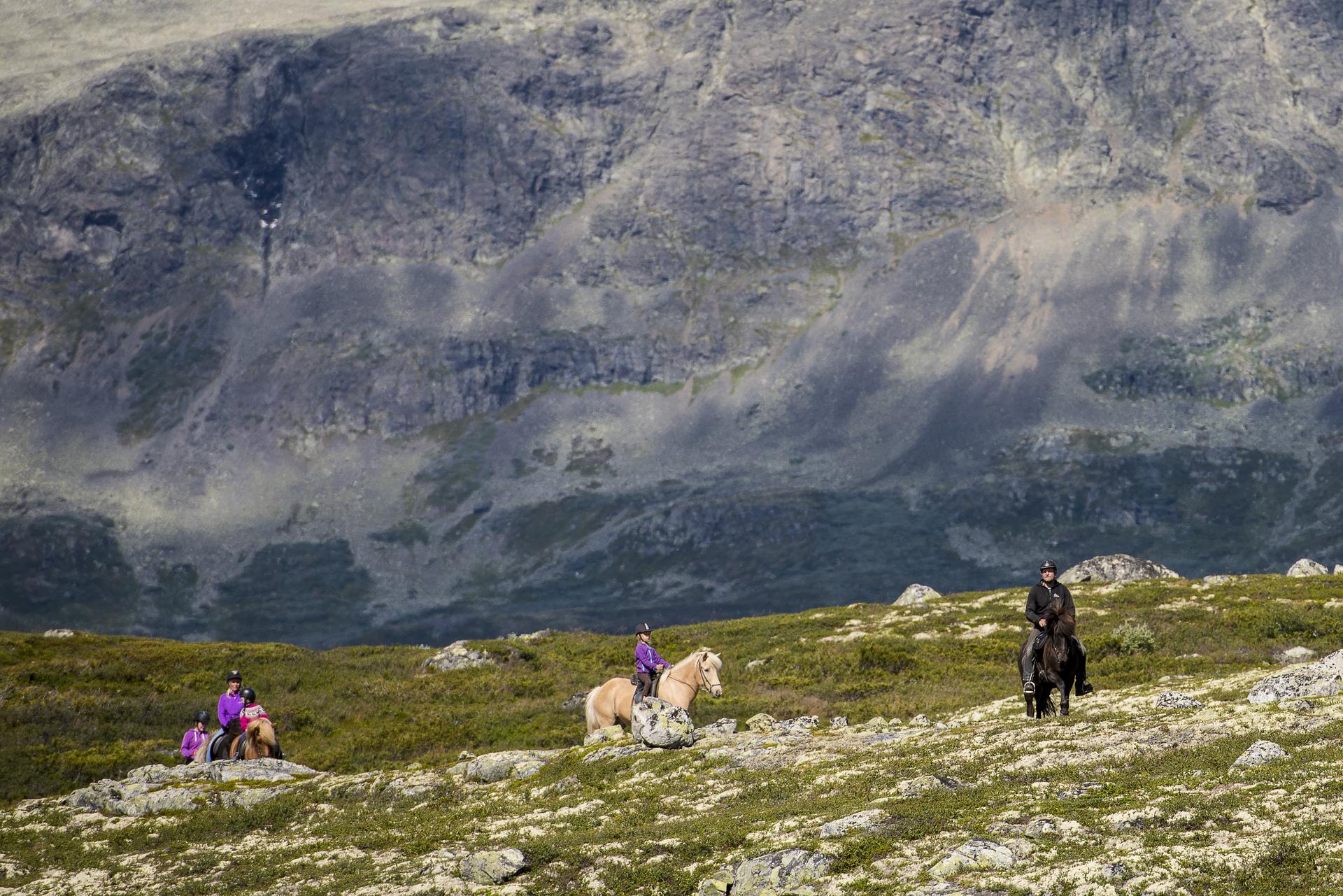 Ridetur på fjellet
